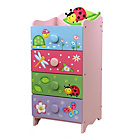 more details on Fantasy Fields Magic Garden 4 Drawer 4 Handle Chest.