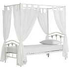 more details on Hearts White Single Four Poster Bed with Ashley Mattress.