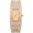 more details on Lipsy Ladies Rose Gold Bangle Strap Watch.