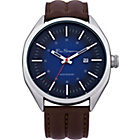 more details on Ben Sherman Mens Brown Strap Blue Dial Date Watch.