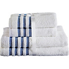 more details on Heart of House 4 Piece Towel Bale Set - Blue and White.