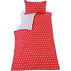 more details on Polka Dot Red Bedding Set - Single.