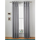 more details on Inspire Sparkle Lined Curtains - 168 x 183cm - Silver.