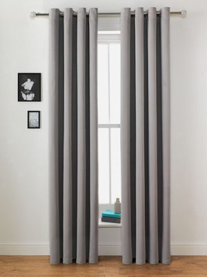 Buy Collection Twilight Blackout Curtains 117x137cm Grey