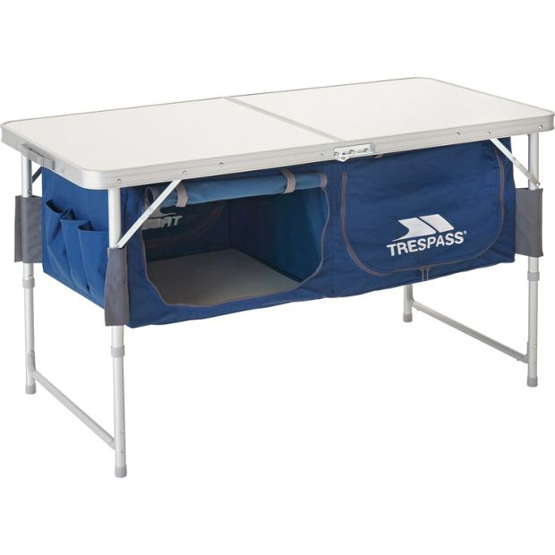 buy trespass camping table with storage at your online shop for camping chairs and. Black Bedroom Furniture Sets. Home Design Ideas