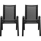 more details on Sicily Garden Chair - Set of 2 - Black.