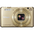 more details on Nikon S7000 Coolpix Compact 16MP 20x Zoom Camera - Gold.