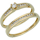 more details on 9ct Gold 0.25ct Diamond Bridal Ring Set.