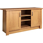 more details on Ohio 2 Door TV Entertainment Unit/Low Sideboard - Oak Effect