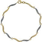 more details on 9ct Gold Diamond Accent Wave Bracelet.