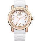more details on Lipsy Ladies White Silicone Strap Watch.