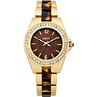 more details on Oasis Ladies Gold and Tortoise Shell Watch.