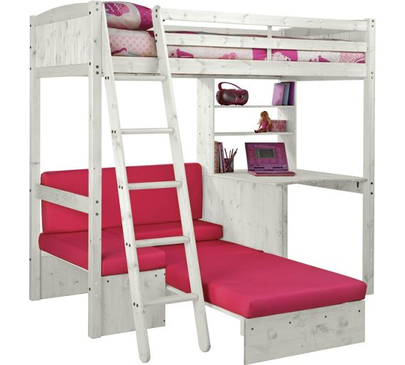 buy classic high sleeper with sofa bed ashley mattress
