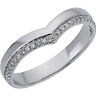 more details on 9ct White Gold 15ct Diamond Set Wishbone Wedding Ring.