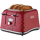 De'Longhi Brillante 4 Slice Toaster - Red