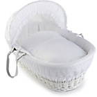 more details on Clair de Lune Vintage Wicker Moses Basket - White.