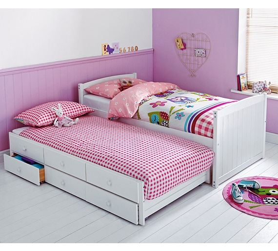Classic Single Bed With Trundle Bed By Stompa: Buy Frankie Single Cabin Bed With Trundle &Ashley Mattress