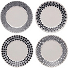 more details on Royal Doulton 16cm Set of Mixed Accents Tea Plates - Black a