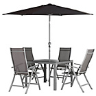 more details on The Collection Malibu 4 Seater Steel Patio Set.