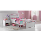 more details on Ellie White Single Bed Frame with Ashley Mattress.
