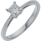 more details on 18ct White Gold 0.50ct Diamond Princess Cut Diamond Ring.