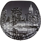 more details on New York Skyline Toilet Seat - Black and Grey.