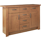 more details on Ohio 2 Door 6 Drawer Sideboard - Oak Effect.