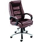 more details on Mabank Leather Faced Executive Chair - Brown.