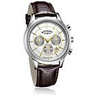 more details on Rotary Men's Two Tone Brown Strap Watch.