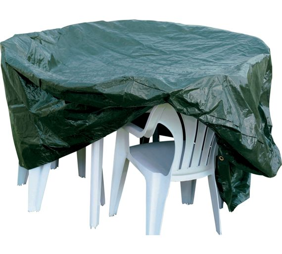 Buy home oval patio set cover at argoscouk your online for Chair cushion covers argos