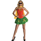 more details on DC Justice League Robin Corset Costume - Size 6-8.