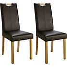 more details on Pair of Chocolate Mid Back Dining Chairs.