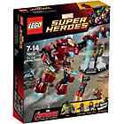 more details on LEGO Super Heroes Avengers The Hulk Buster Smash 76031.