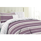 more details on Milan Plum Stripe Bedding Set Bundle - Double.