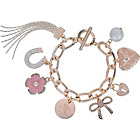 more details on Lipsy Flower and Bow Charm Bracelet.