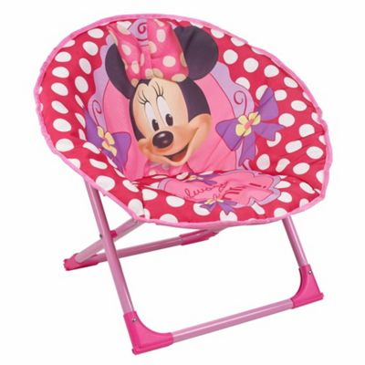 Disney Minnie Mouse Foldable Moon Chair - Pink