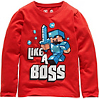 more details on Minecraft Boys' Red Boss Long Sleeve T‑Shirt.