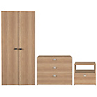 more details on Windermere 3 Piece 2 Door Wardrobe Package - Oak.