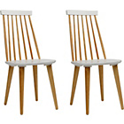more details on Herning Pair of Wooden Dining Chairs.