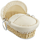 more details on Clair de Lune Stardust Natural Wicker Moses Basket - Cream.