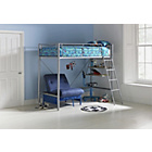 more details on Sit N Sleep Metal High Sleeper & Ashley Mattress- Blue Futon