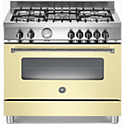more details on Bertazzoni A905MFECRE Master Dual Fuel Range Cooker - Cream.
