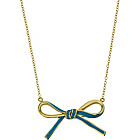 more details on 9ct Gold Plated Sterling Silver Blue Bow Necklet.