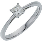 more details on 18ct White Gold 0.25ct Diamond Princess Cut Diamond Ring.
