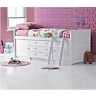 more details on Tory White Mid Sleeper Bed with Buddy Mattress.