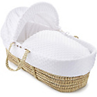 more details on Clair de Lune Dimple Palm Moses Basket - White.