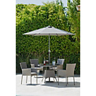 more details on Havana 4 Seater Rattan Effect Patio Set - Grey/Exp. Del.