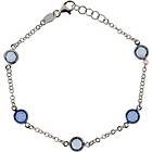 more details on Opulenza Sterling Silver Blue Crystal Bracelet.