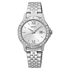more details on Seiko Ladies' White Dial Stainless Steel Bracelet Watch.