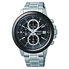 more details on Seiko Mens Black Dial Chrono Bracelet Watch.